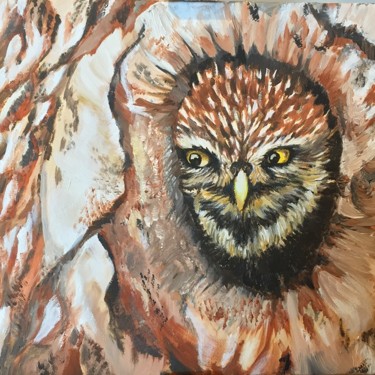 The Owl - oil on canvas